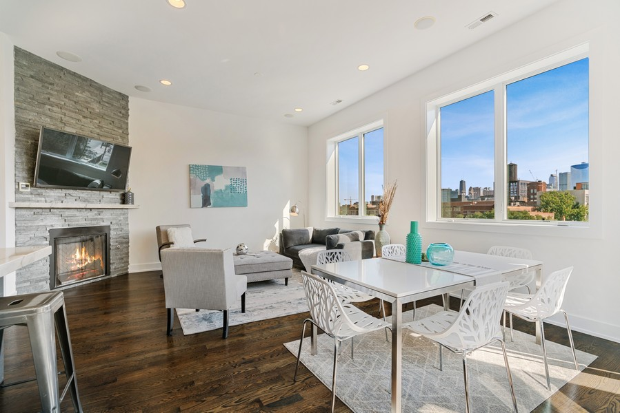 Real Estate Photography - 6 N. Throop St, #4S, Chicago, IL, 60607 - Dining Room