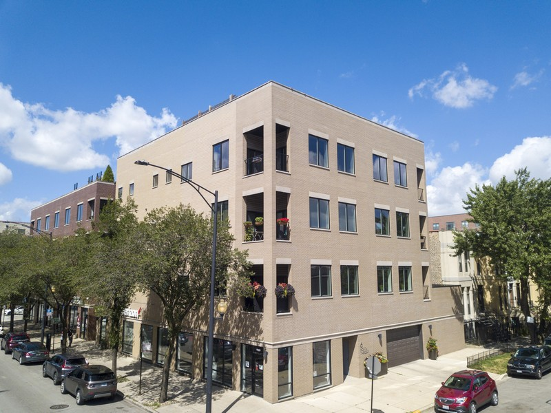 Real Estate Photography - 6 N. Throop St, #4S, Chicago, IL, 60607 - Front View