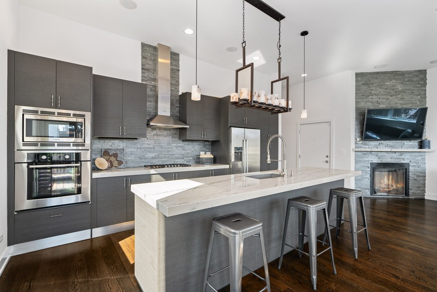Real Estate Photography - 6 N. Throop St, #4S, Chicago, IL, 60607 - Kitchen