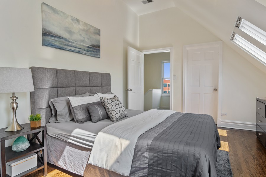Real Estate Photography - 3139 N. Southport Ave, #PH, Chicago, IL, 60657 - 2nd Bedroom