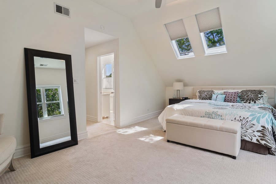 Real Estate Photography - 3139 N. Southport Ave, #PH, Chicago, IL, 60657 - Master Bedroom
