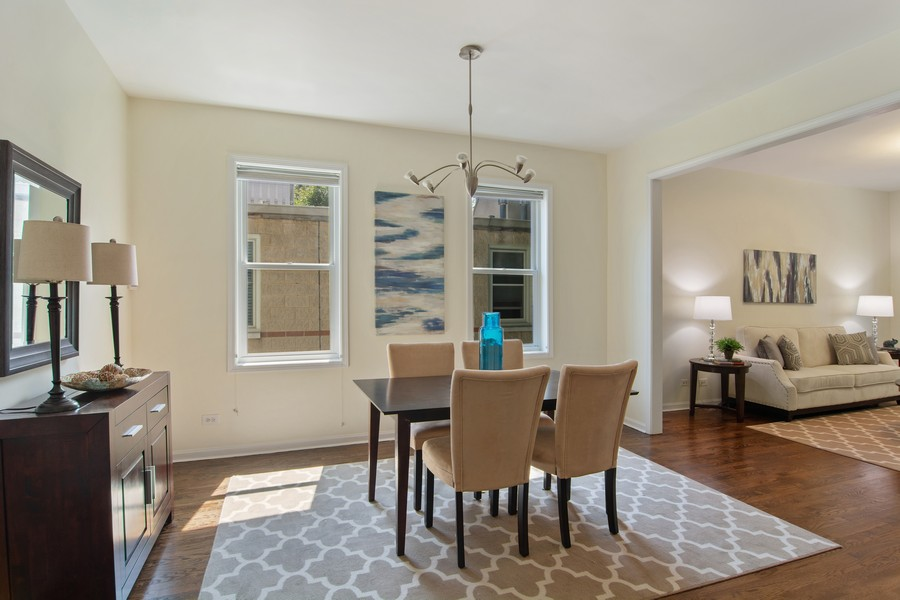 Real Estate Photography - 3139 N. Southport Ave, #PH, Chicago, IL, 60657 - Dining Room