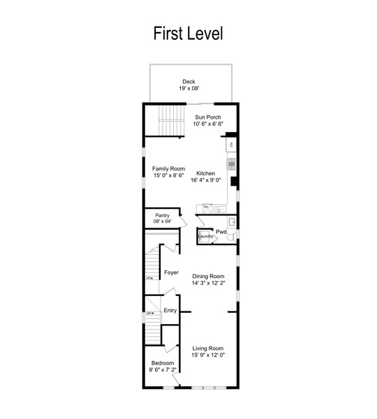 Real Estate Photography - 3139 N. Southport Ave, #PH, Chicago, IL, 60657 - Floor Plan