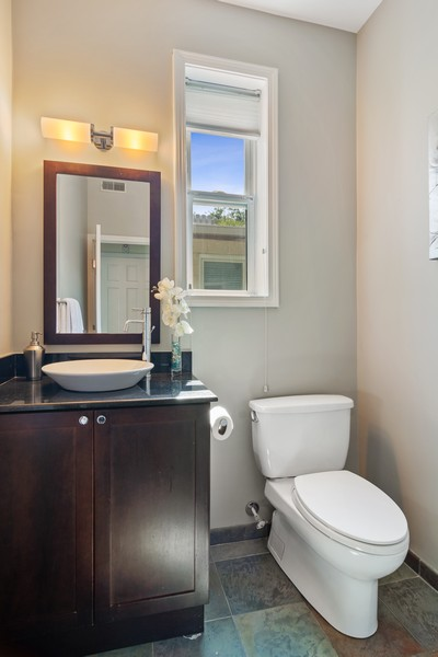 Real Estate Photography - 3139 N. Southport Ave, #PH, Chicago, IL, 60657 - Half Bath