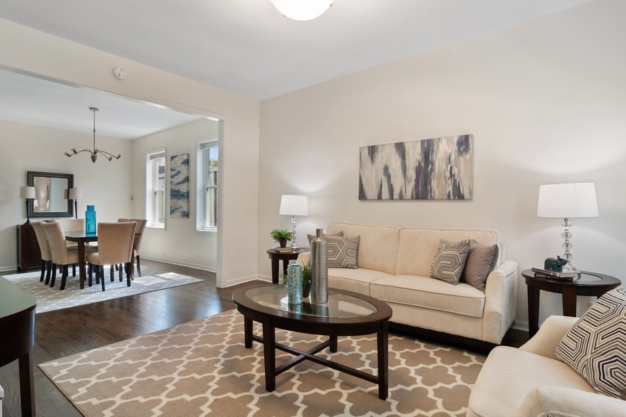 Real Estate Photography - 3139 N. Southport Ave, #PH, Chicago, IL, 60657 - Living Room / Dining Room