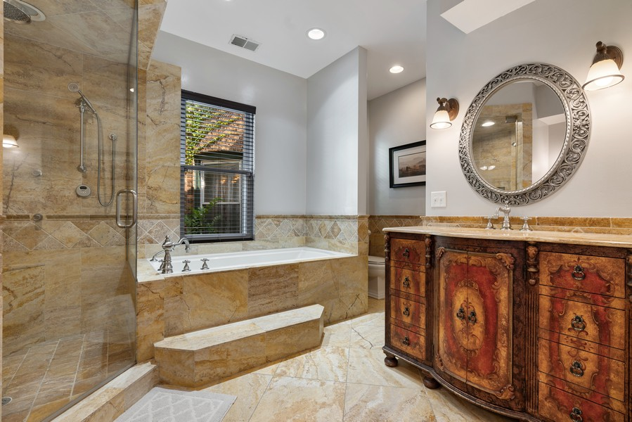 Real Estate Photography - 4704 N. Talman Ave, Chicago, IL, 60625 - Master Bathroom