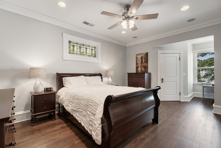 Real Estate Photography - 4704 N. Talman Ave, Chicago, IL, 60625 - Master Bedroom