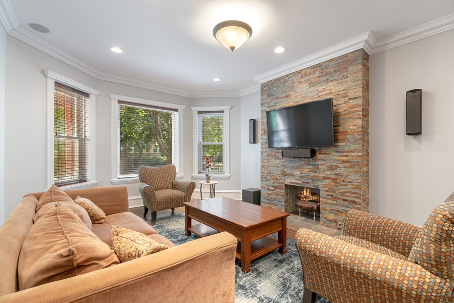Real Estate Photography - 4704 N. Talman Ave, Chicago, IL, 60625 - Living Room