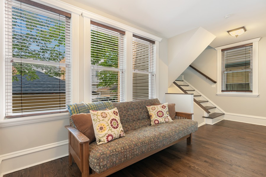 Real Estate Photography - 4704 N. Talman Ave, Chicago, IL, 60625 - Sitting Room