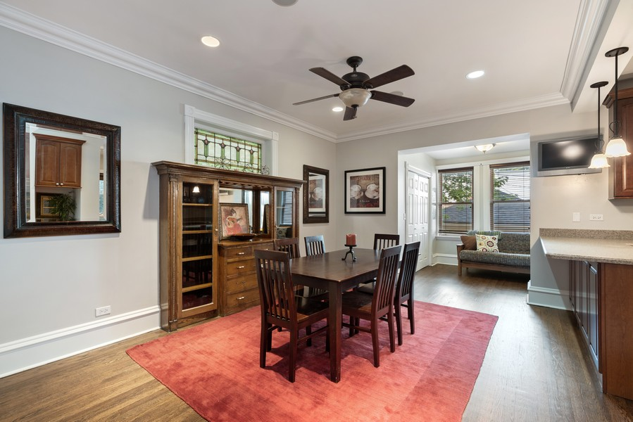 Real Estate Photography - 4704 N. Talman Ave, Chicago, IL, 60625 - Dining Area