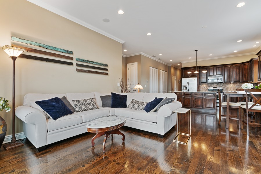 Real Estate Photography - 4156 N. Elston Ave, #4N, Chicago, IL, 60618 - Living Room