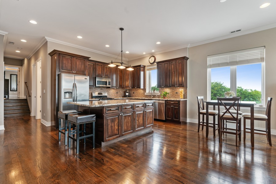 Real Estate Photography - 4156 N. Elston Ave, #4N, Chicago, IL, 60618 - Kitchen / Dining Room