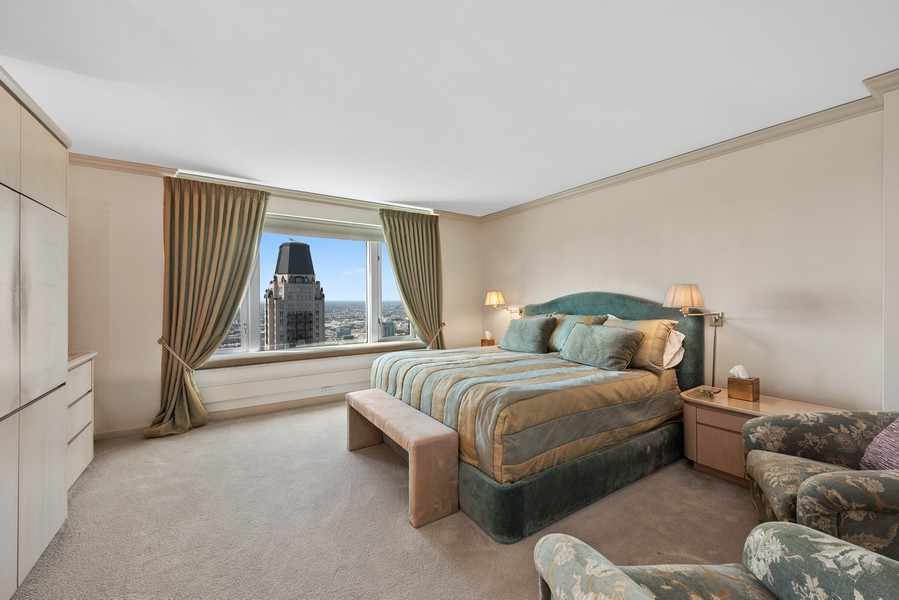 Real Estate Photography - 132 E Delaware Pl, 4901, Chicago, IL, 60611 - Master Bedroom