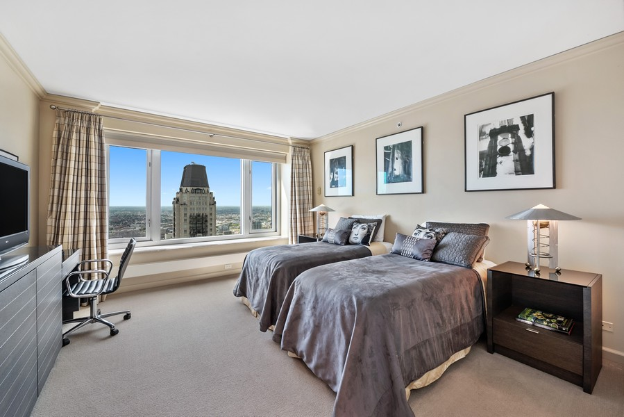 Real Estate Photography - 132 E Delaware Pl, 4901, Chicago, IL, 60611 - 2nd Bedroom