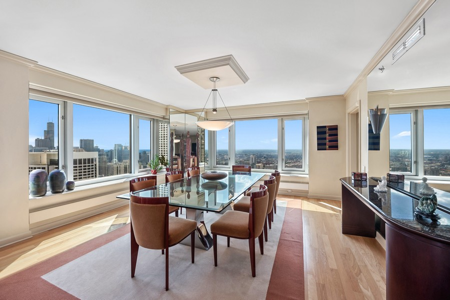 Real Estate Photography - 132 E Delaware Pl, 4901, Chicago, IL, 60611 - Dining Room