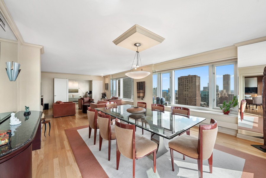 Real Estate Photography - 132 E Delaware Pl, 4901, Chicago, IL, 60611 - Living Room / Dining Room