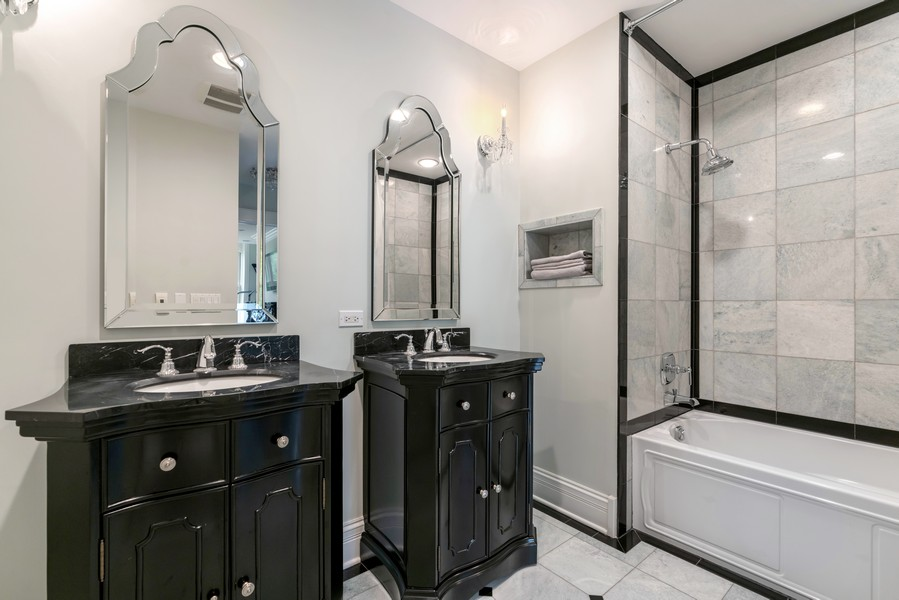 Real Estate Photography - 1914 N. Clark St, Chicago, IL, 60614 - 3rd Bathroom