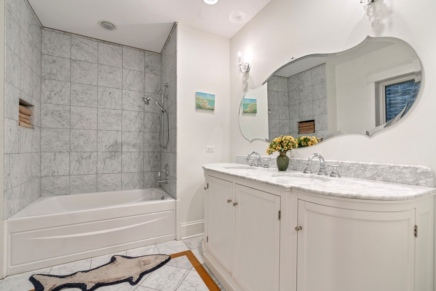 Real Estate Photography - 1914 N. Clark St, Chicago, IL, 60614 - 4th Bathroom