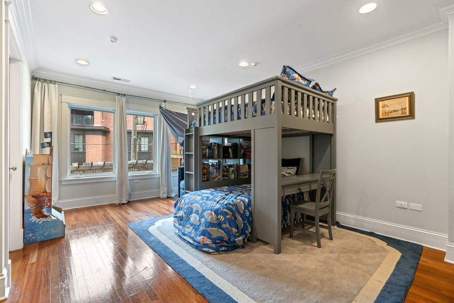 Real Estate Photography - 1914 N. Clark St, Chicago, IL, 60614 - 3rd Bedroom