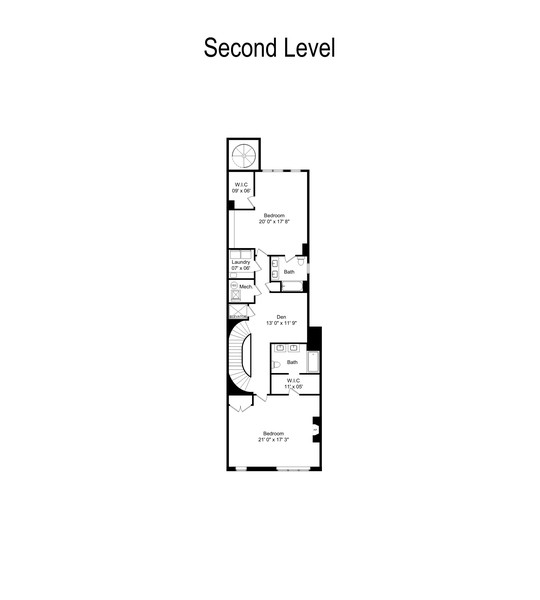 Real Estate Photography - 1914 N. Clark St, Chicago, IL, 60614 - Floor Plan