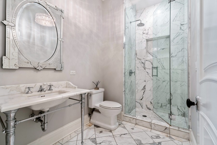 Real Estate Photography - 1914 N. Clark St, Chicago, IL, 60614 - 2nd Bathroom