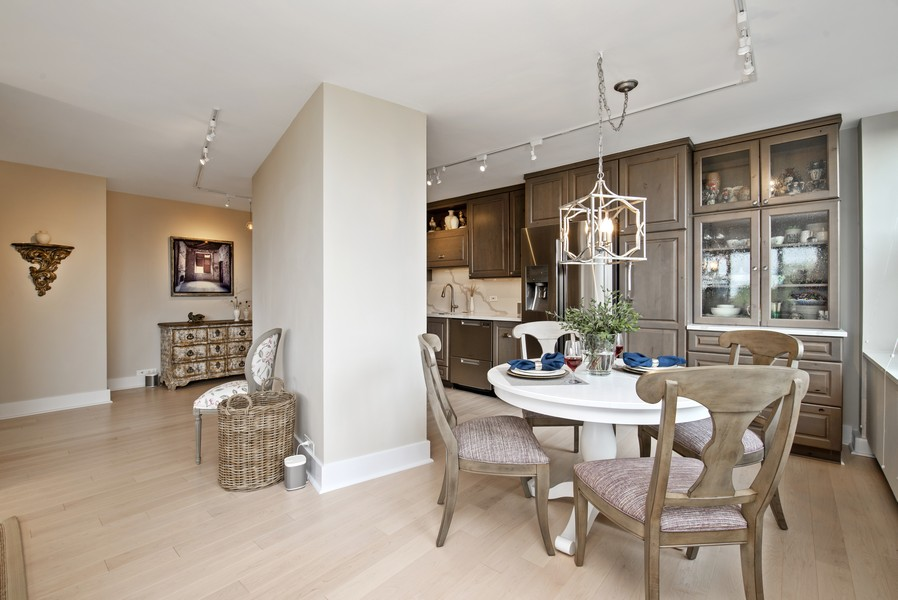 Real Estate Photography - 4250 N Marine Dr, Unit 401, Chicago, IL, 60613 - Kitchen / Dining Room