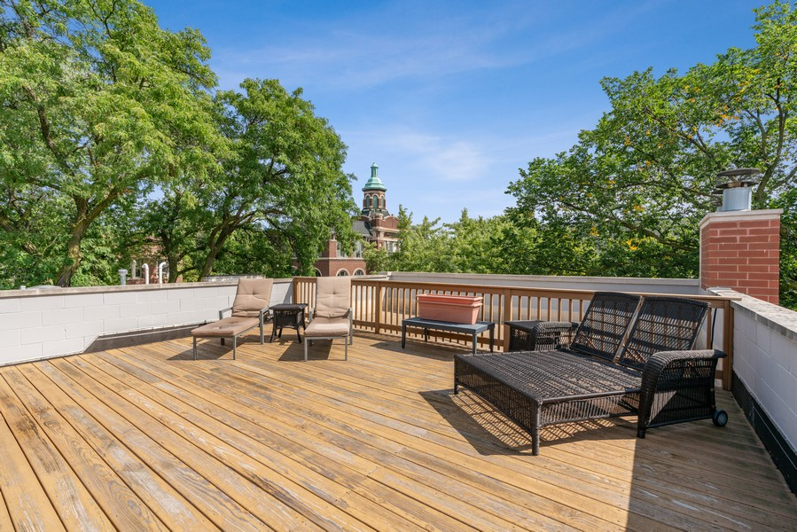 Real Estate Photography - 654 N. Oakley Blvd, Chicago, IL, 60612 - Roof Deck