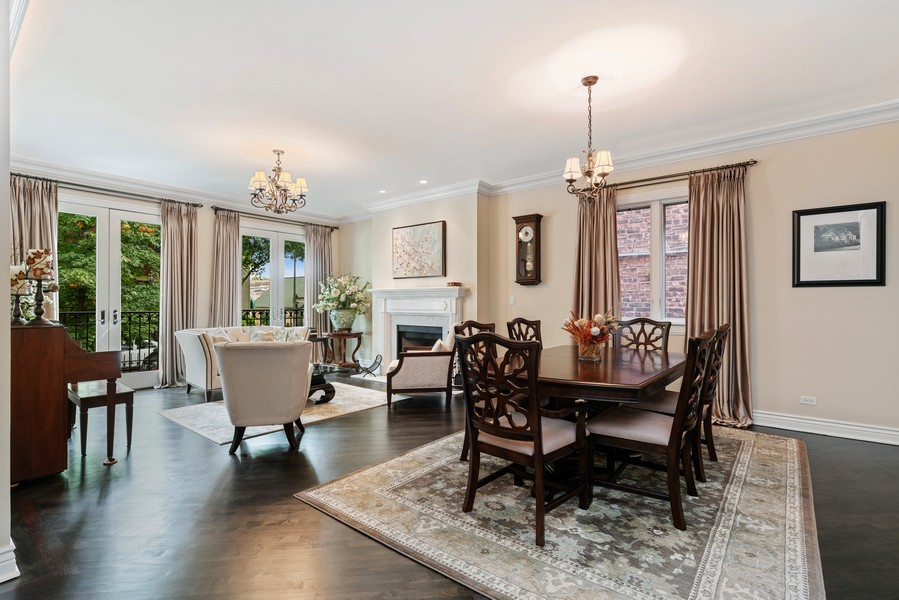 Real Estate Photography - 654 N. Oakley Blvd, Chicago, IL, 60612 - Living Room / Dining Room