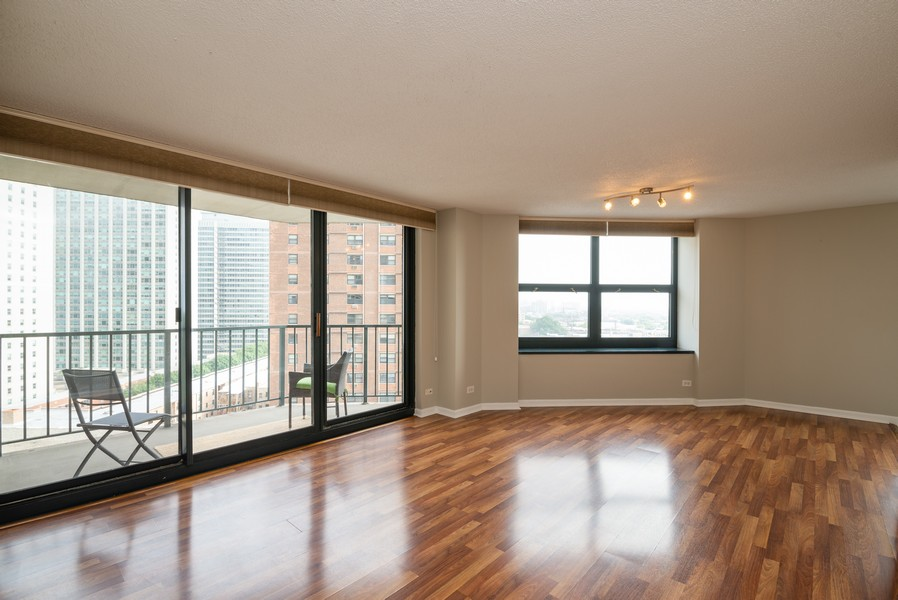 Real Estate Photography - 3660 N Lake Shore Drive, Unit 1111, Chicago, IL, 60613 - Living Room