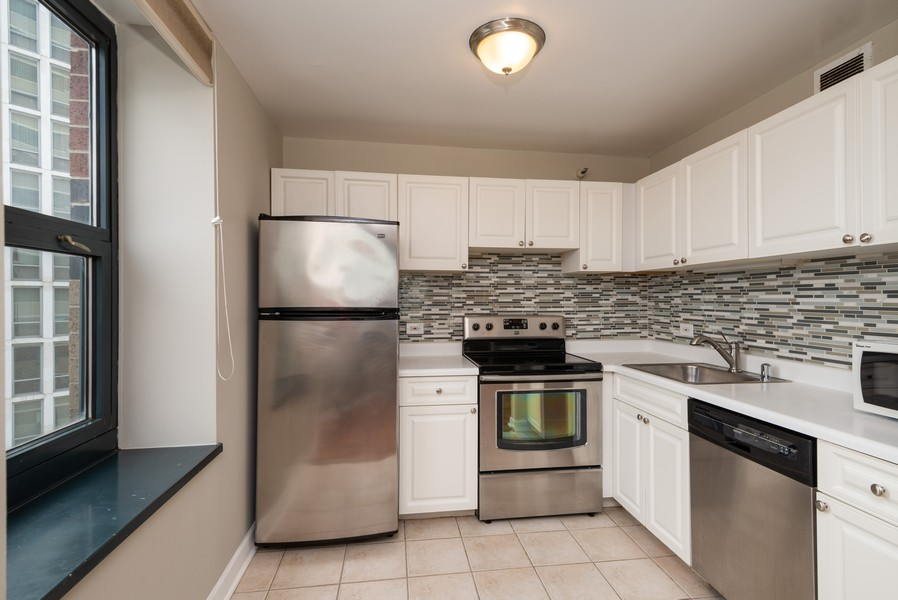 Real Estate Photography - 3660 N Lake Shore Drive, Unit 1111, Chicago, IL, 60613 - Kitchen