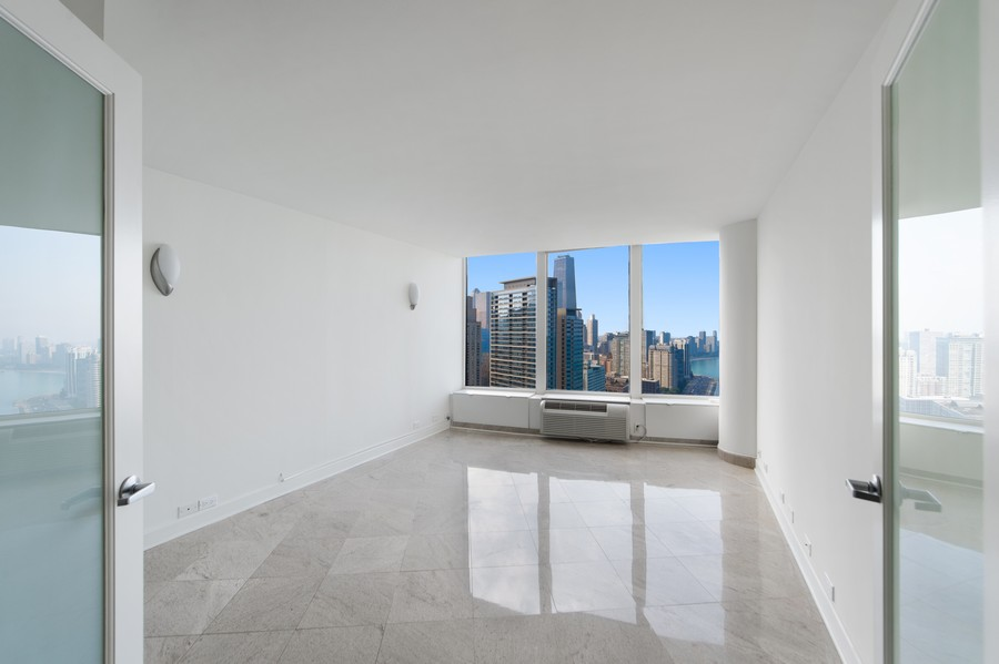 Real Estate Photography - 505 N Lake Shore Drive, Unit 4412, Chicago, IL, 60611 - Bedroom
