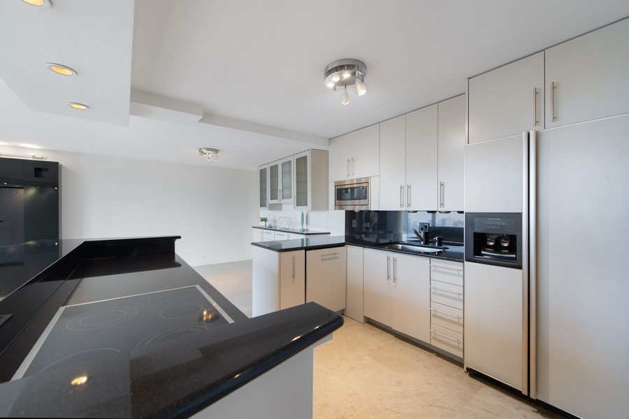 Real Estate Photography - 505 N Lake Shore Drive, Unit 4412, Chicago, IL, 60611 - Kitchen