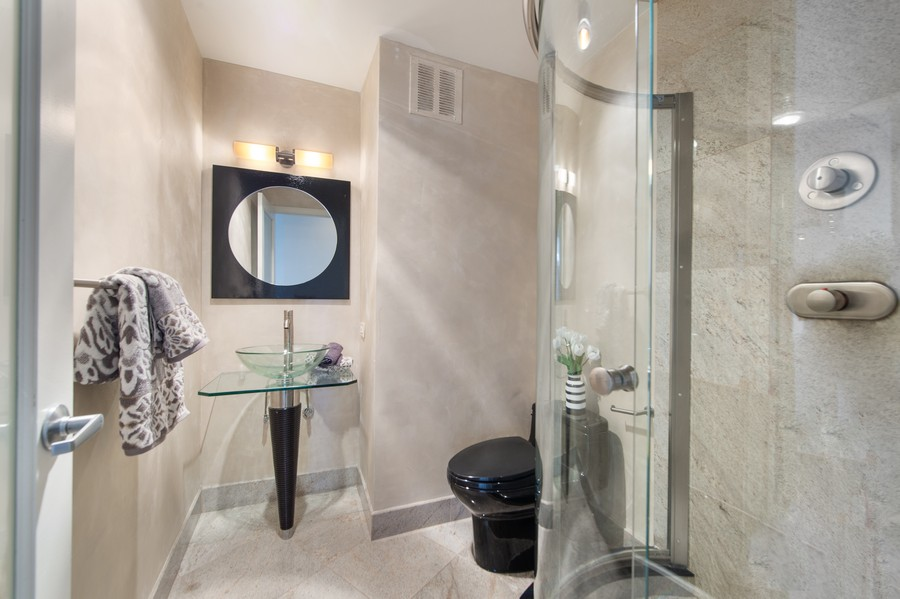 Real Estate Photography - 505 N Lake Shore Drive, Unit 4412, Chicago, IL, 60611 - Bathroom