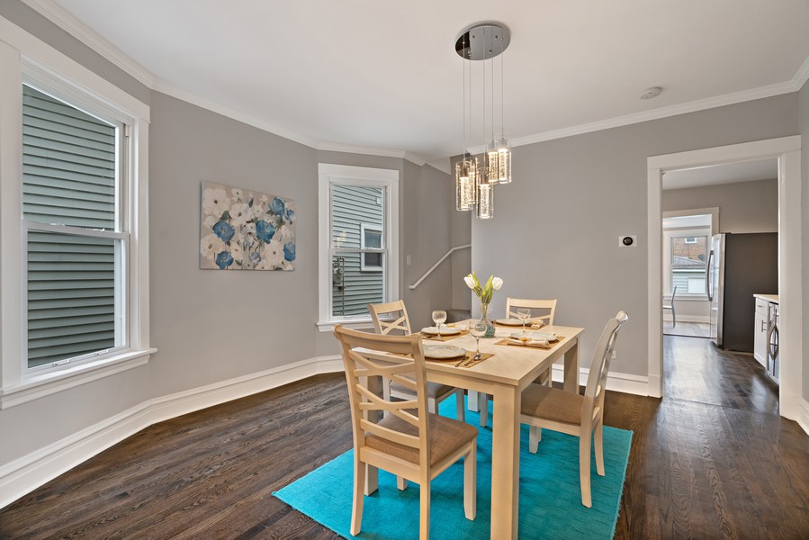 Real Estate Photography - 5131 W. Patterson Ave, Chicago, IL, 60641 - Dining Room