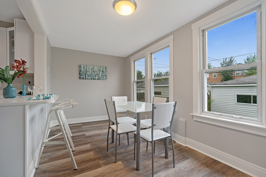 Real Estate Photography - 5131 W. Patterson Ave, Chicago, IL, 60641 - Dining Area