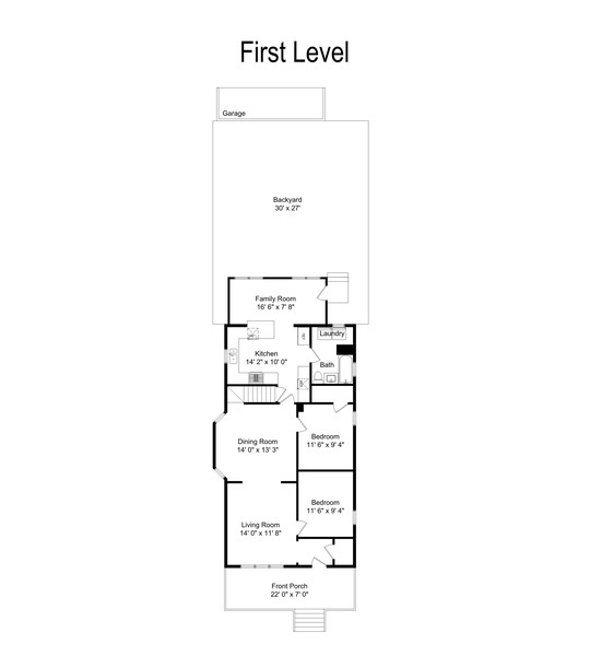 Real Estate Photography - 5131 W. Patterson Ave, Chicago, IL, 60641 - Floor Plan