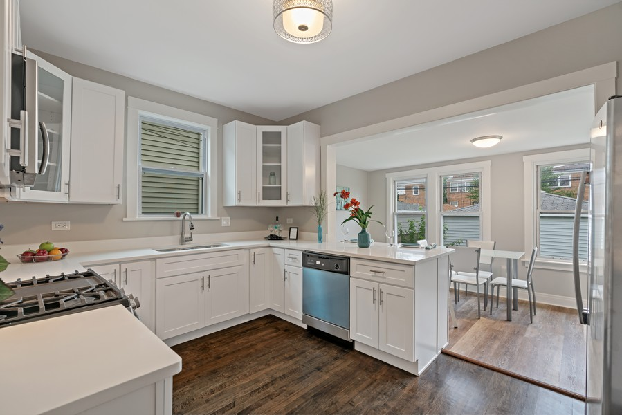 Real Estate Photography - 5131 W. Patterson Ave, Chicago, IL, 60641 - Kitchen