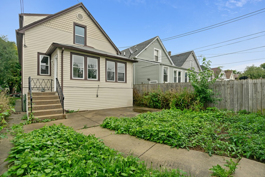 Real Estate Photography - 5131 W. Patterson Ave, Chicago, IL, 60641 - Rear View