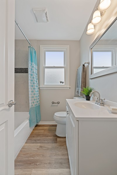 Real Estate Photography - 5131 W. Patterson Ave, Chicago, IL, 60641 - 2nd Bathroom