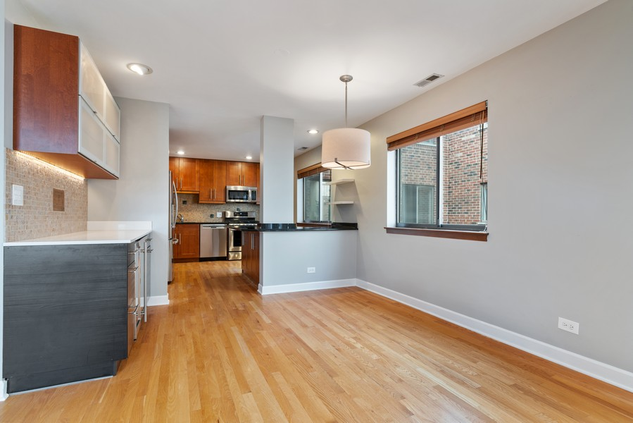 Real Estate Photography - 1651 N. Dayton St, #303, Chicago, IL, 60614 - Dining Room