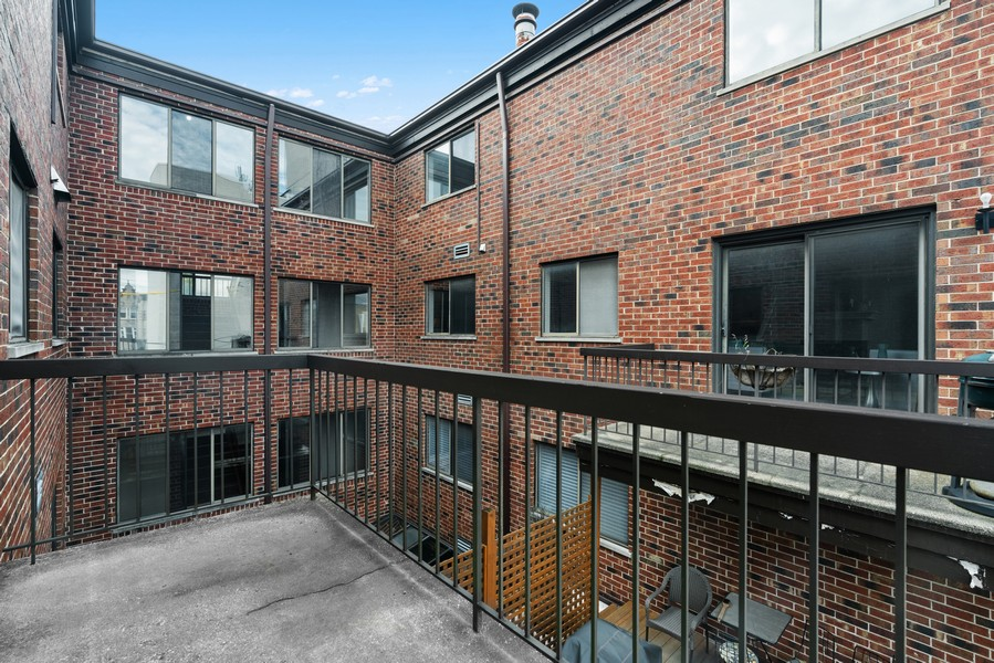 Real Estate Photography - 1651 N. Dayton St, #303, Chicago, IL, 60614 - Balcony