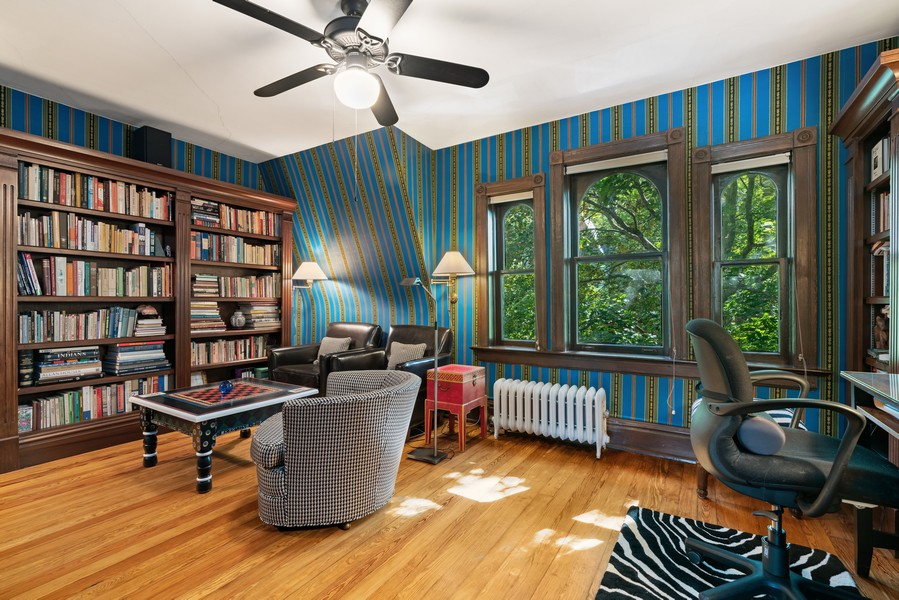 Real Estate Photography - 428 W. Roslyn Pl, Chicago, IL, 60614 - Study