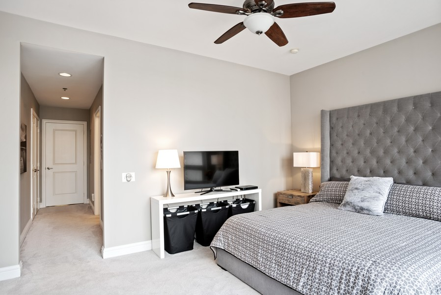 Real Estate Photography - 55 E Erie Unit 1803, Chicago, IL, 60611 - Master Bedroom