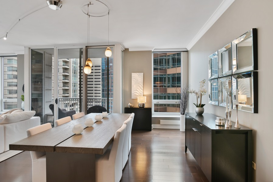 Real Estate Photography - 55 E Erie Unit 1803, Chicago, IL, 60611 - Dining Area