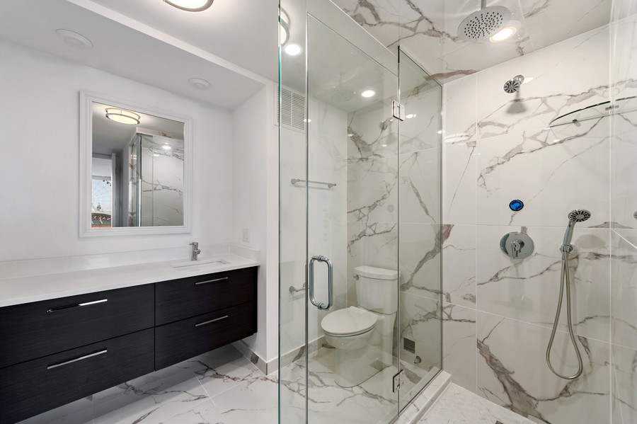 Real Estate Photography - 505 N Lake Shore Drive, Unit 706, Chicago, IL, 60611 - Master Bathroom