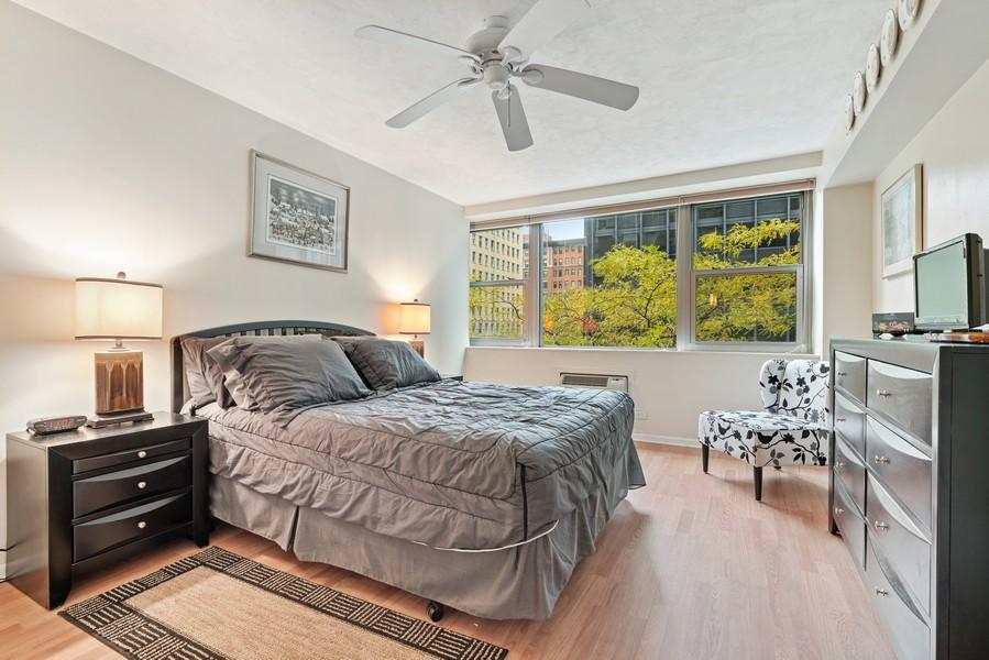 Real Estate Photography - 253 E. Delaware Pl, #4A, Chicago, IL, 60611 - Master Bedroom