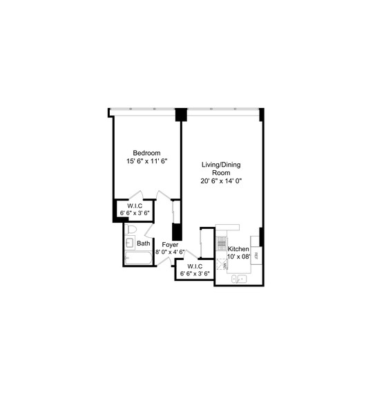 Real Estate Photography - 253 E. Delaware Pl, #4A, Chicago, IL, 60611 - Floor Plan
