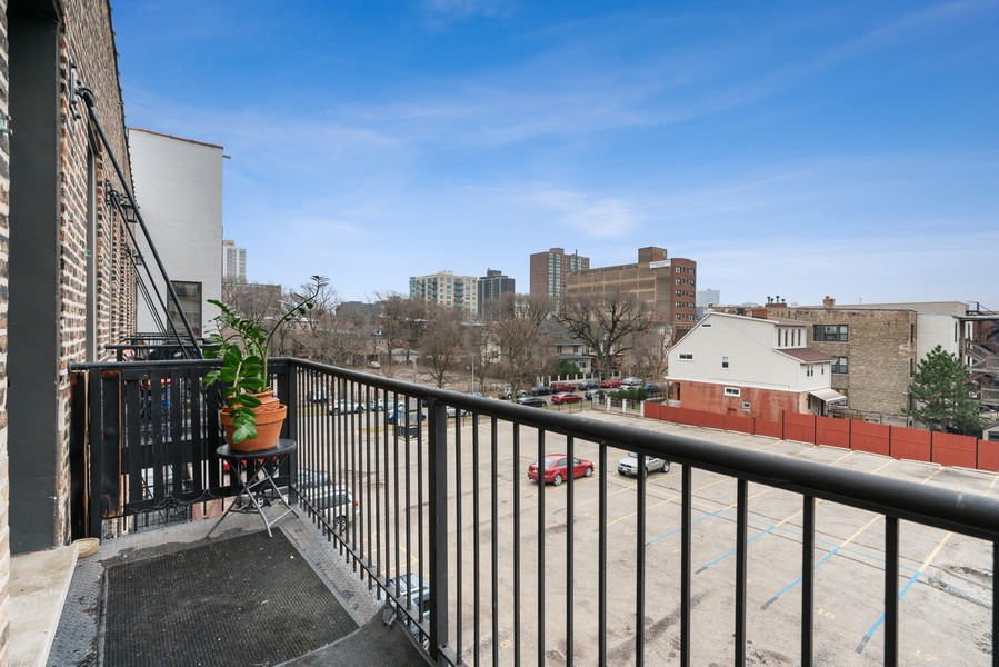 Real Estate Photography - 1107 W. Lawrence Ave, #307, Chicago, IL, 60640 - Balcony