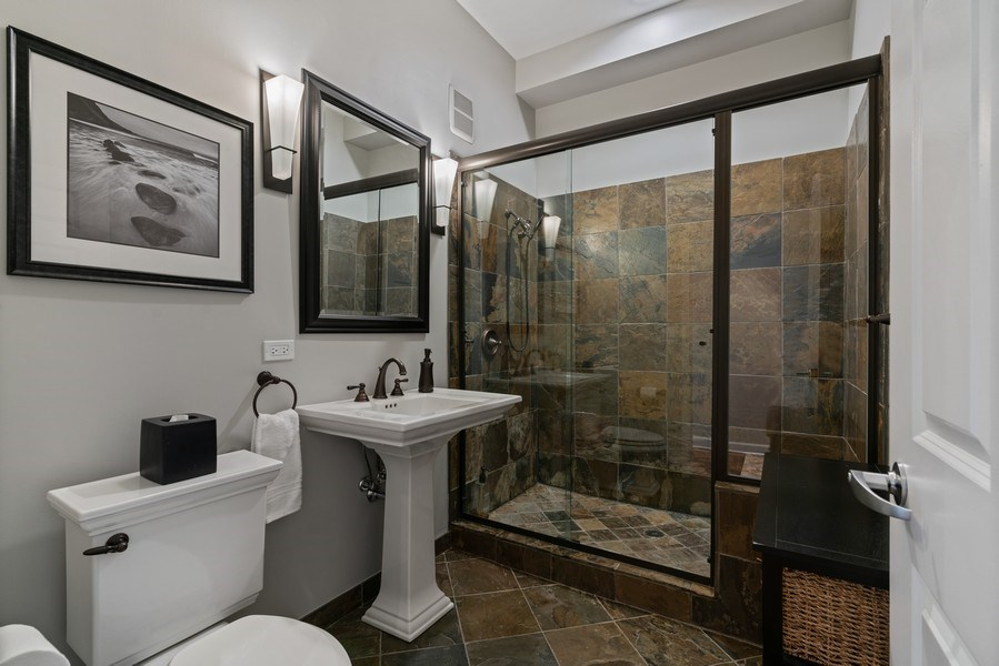 Real Estate Photography - 1133 S. State, #703, Chicago, IL, 60605 - 2nd Bathroom