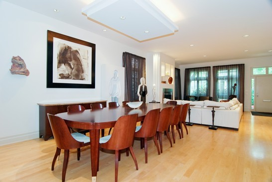 Real Estate Photography - 2037 N Magnolia Ave, Chicago, IL, 60614 - Living Room / Dining Room
